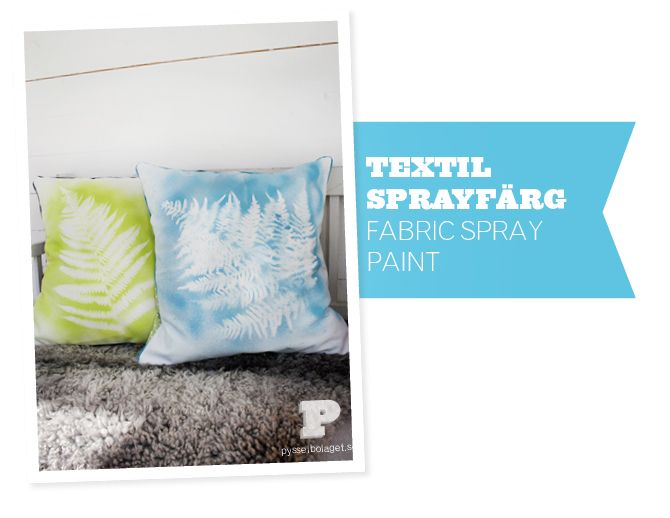 """""""Fabric Spray Paint""""  (tutorial)  [Pysselbolaget.se]  (translation button available on webpage)"""