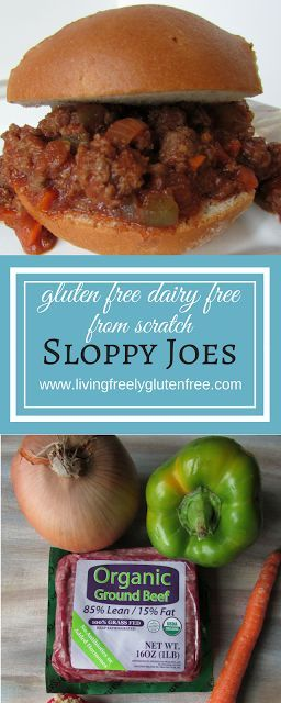 Sloppy Joes From Scratch: Gluten Free, Dairy Free and Healthy. Delicious childhood favorite in a clean version. Simple to throw together with a gluten free bun or bread. http://www.livingfreelyglutenfree.com