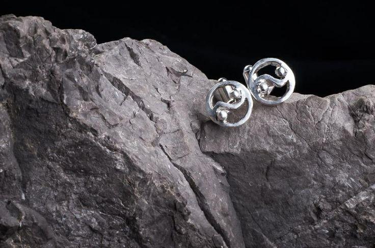 Ying-yang cufflinks handmade jewellery design  www.facebook.com/lunojewellery