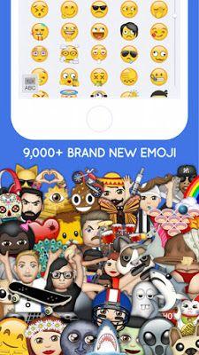 Moji Keyboard - An Emoji Keyboard with Large Collections of New Emoji's  #Emoji #iOS #App