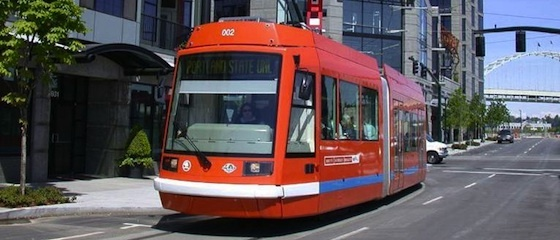 Riding the Portland Streetcar every day to work