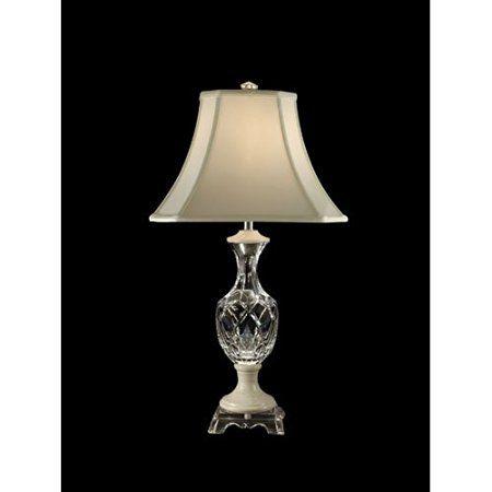 Dale tiffany gt80309 mármol lámpara de mesa de cristal cromo y pantalla de tela table lampstiffanymarblescrystalscrystalmarblesculpturesbuffet lamps
