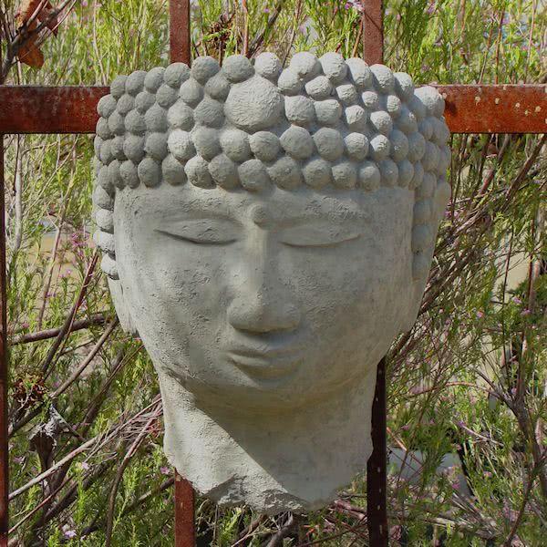 Buddha Head Wall Planter Garden Stones Garden Shop Stone Design