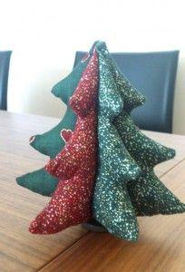 DIY tutorial arbol navideño telas coser retales patchwork