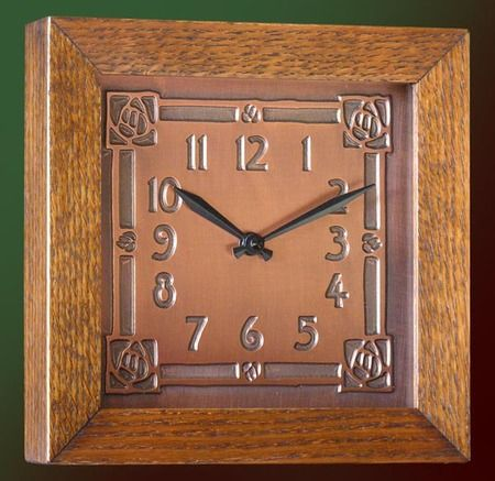 17 best images about arts crafts clocks on pinterest for Arts and crafts style wall clock