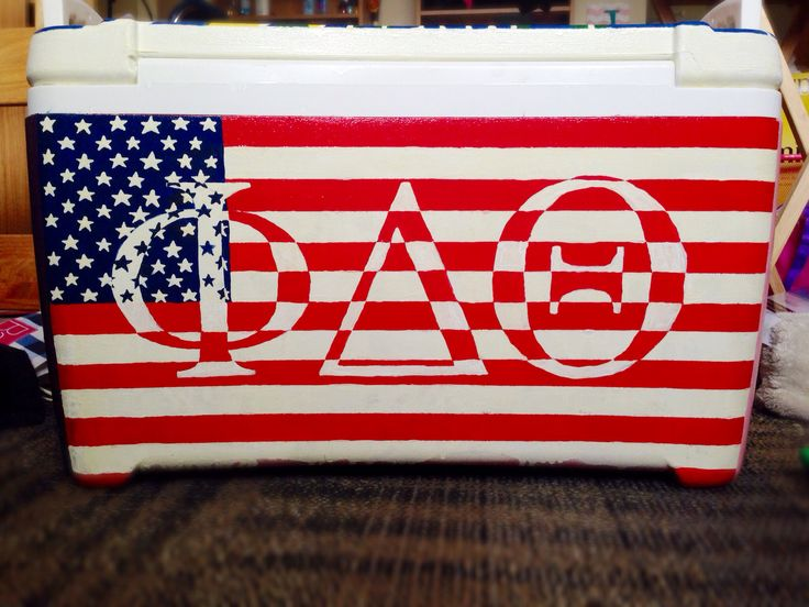 Phi delta theta American flag cooler. Except remake with ΠΚΑ of course ;)