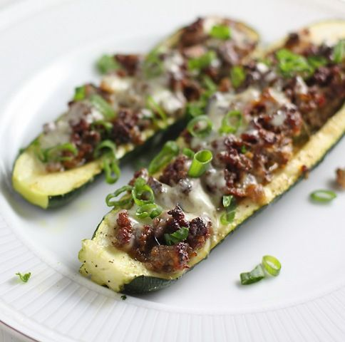 Stuffed Zucchini - this looks really good!  One can never eat too much zucchini.