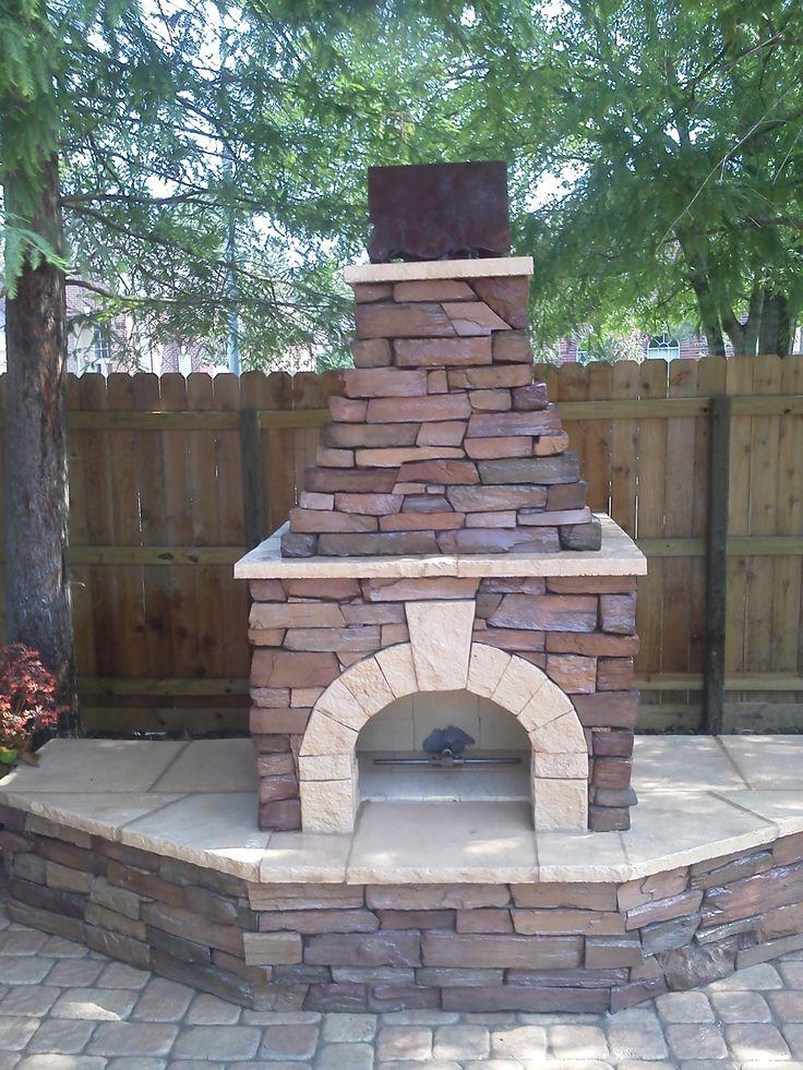 Outdoor Fireplace Custom Stone Masonry Pinterest