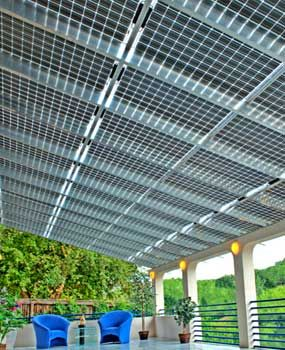 Integrated photovoltaic porch roof  @Rheanne Jakubowski this is what we need :)