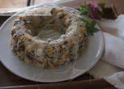 Corona de arroz, verduras y jamón. Video receta.