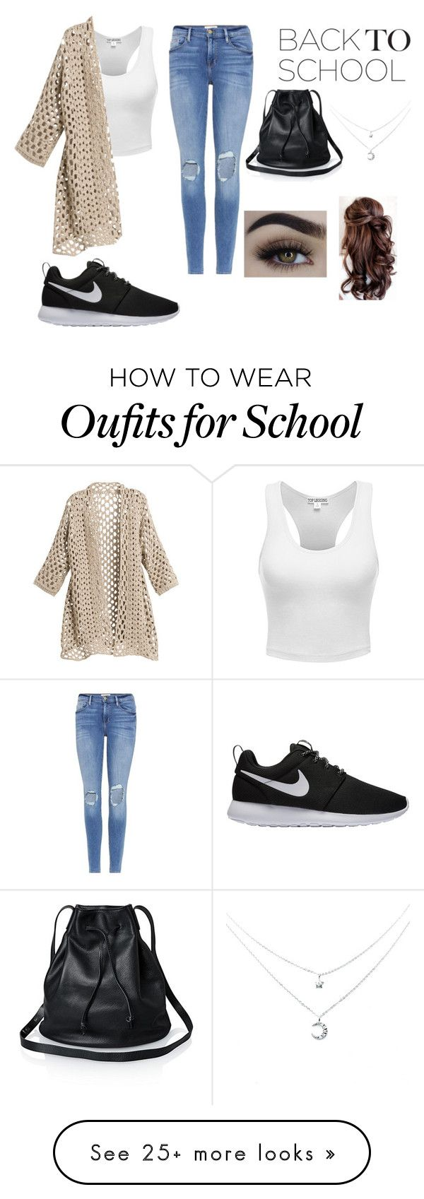"""""""Back to school """" by kara-klose on Polyvore featuring Frame and NIKE"""