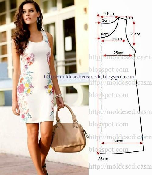 Free sewing pattern for a simple shift dress. More free sewing patterns at http://www.sewinlove.com.au/free-sewing-patterns/