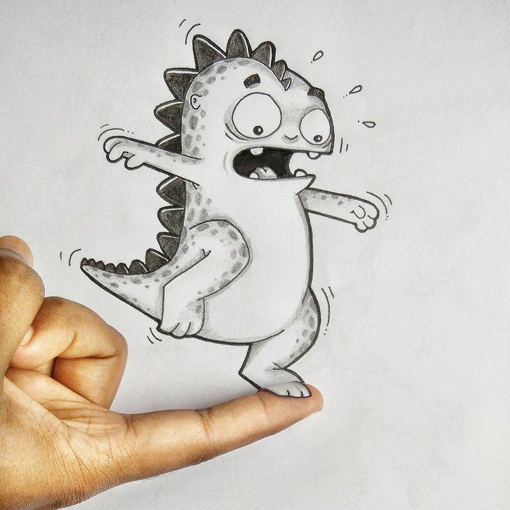 Поздравления открытки, смешной рисунок нарисованный карандашом