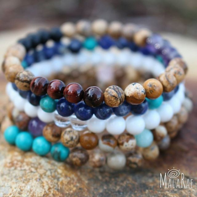Sending out this lovely stack combo today to its forever home. The vibrant colour + energy of these stones are getting me super excited for long summer days!  #spring #equinox #malarae #malas #malabeads #jewelry #supportlocal #gemstones #crystals #handmade #intention #meditation #mantra #boho #mindset #joblove #yoga #yogawear #chakra #namaste #yogi #meditate365 #intuition #photooftheday #igers #positivity #meditate #manifest #peace #mymalarae