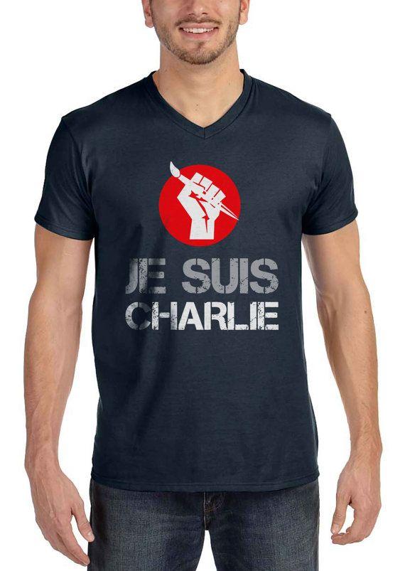 Je Suis Charlie Shirts V-Neck Men Women Unisex Adult