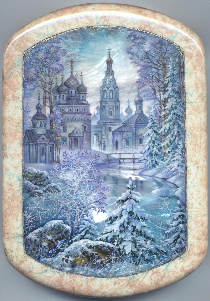 Fedoskino: Winter Fairy Tale by Knyazev Sergey