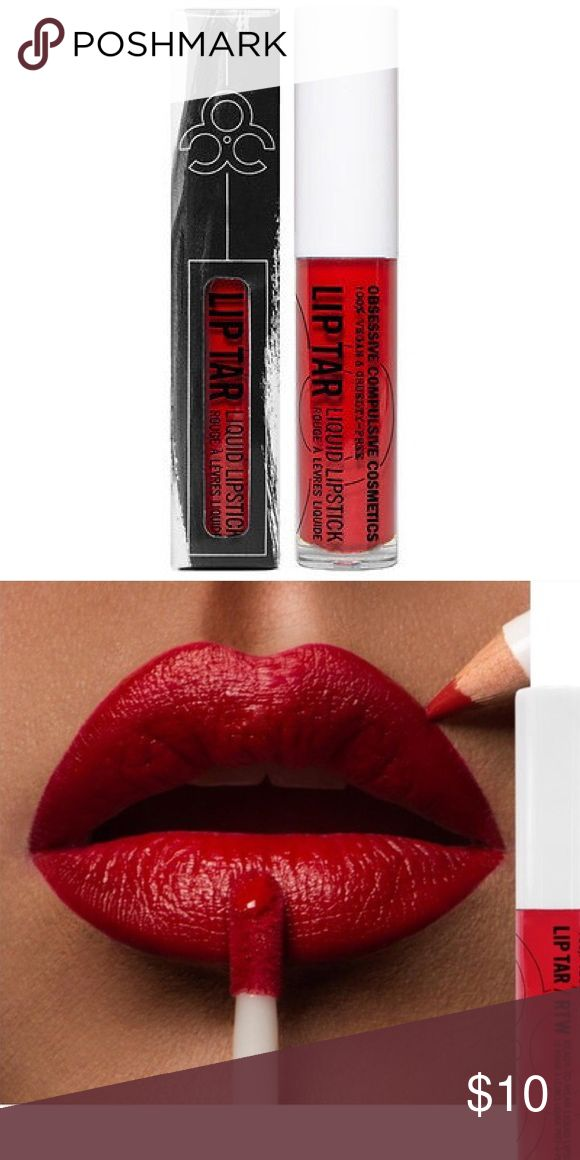 OCC Lip Tar in Stalker- New in Box Brand new-unopened tube of OCC lip tar in the color stalker. The 2nd pic is of the actual lip tar color on a model, taken from the lip tar website, so you can get an exact idea of what it will look like. lip tar Makeup