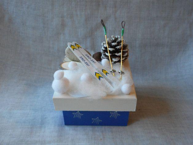 Gastgeschenke - Geschenkbox / Geldgeschenk Winterurlaub,Ski fahren - ein Designerstück von Bastelmaus--- bei DaWanda
