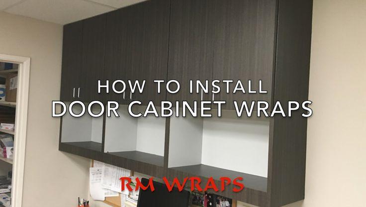 Wrapping a cabinet door with di noc vinyl di - Garage door vinyl wrap ...
