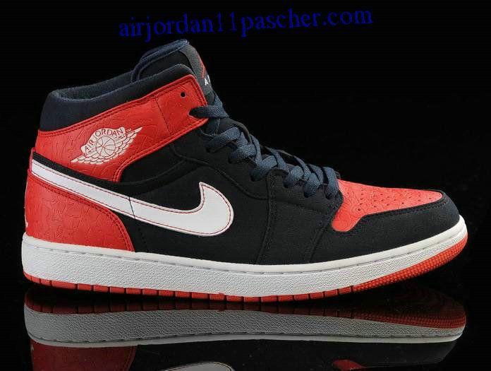 Air Jordan 1 Noir Blanc Dark Bleu Chaussures