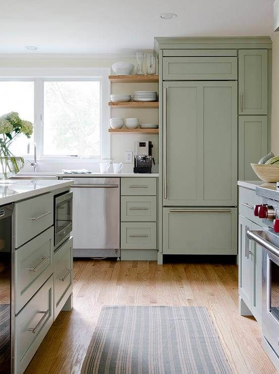 28 Sage Green Decor Ideas | Green kitchen cabinets, Sage ...