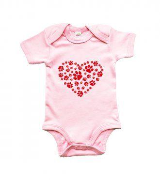 Body dětské - Srdce - psí ťapky