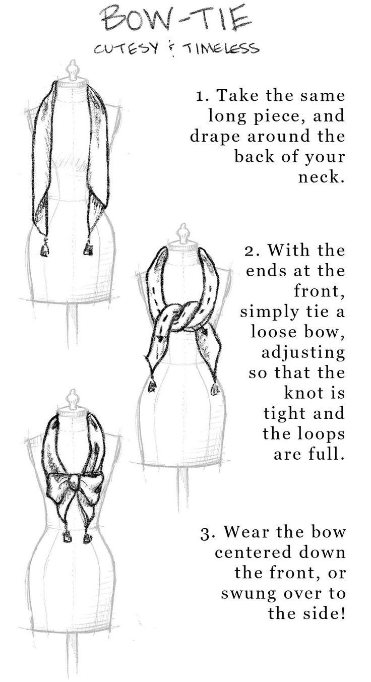 how to tie a scarf. So pretty yet easy ways to do it!