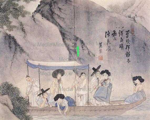 Antique Korean Painting  Asian Fine Art Print-Order-MadeBUY