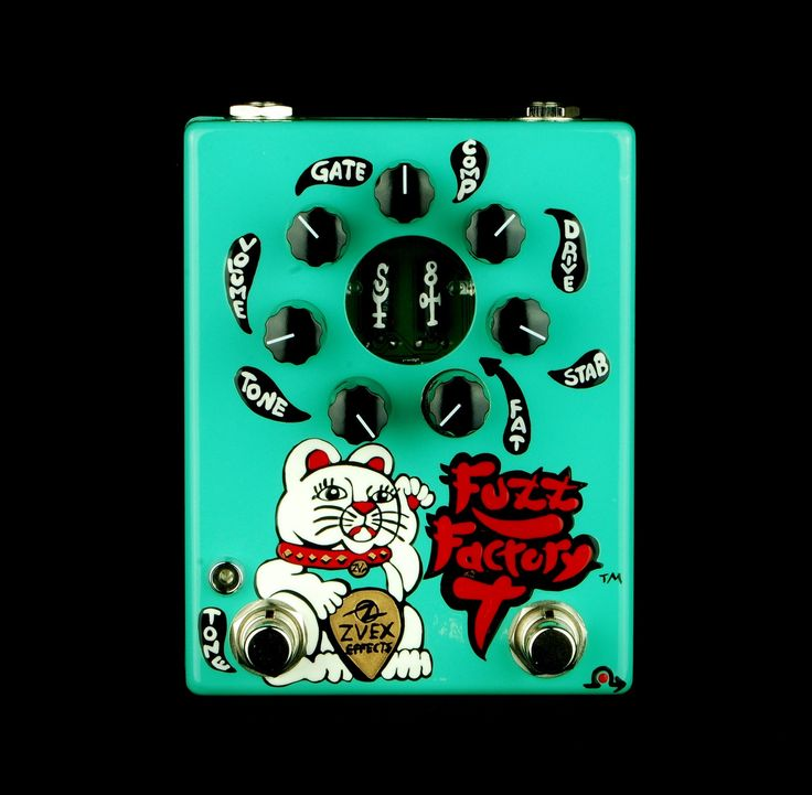 ZVex Hand-Painted Fuzz Factory 7 Electric Guitar & Bass Effects Pedal