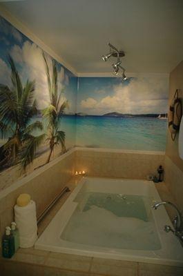 Take a hot bath on the beach #bathroom #HomeDecor