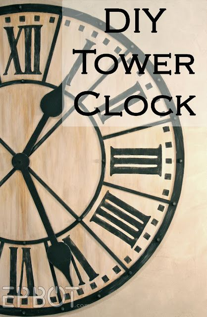 I think this would be a fantastic unique dining table top.  EPBOT: DIY Giant Tower Wall Clock