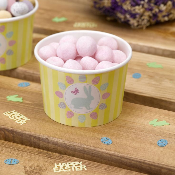 Easter sweet tubs great for treats or presenting crisps, nibbles or ice cream from www.fuschiadesigns.co.uk