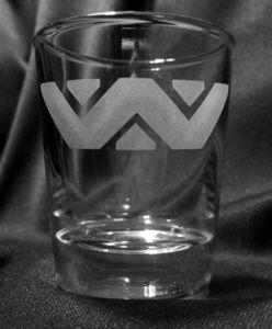 Weyland Yutani Etched Shot Glass