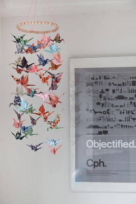Underwerket / lisa grue: Origami Crane mobile