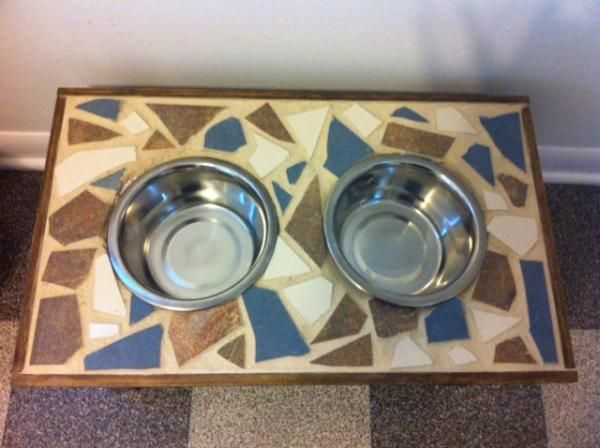Tiled Raised Dog Feeder Do It Yourself Home Projects 400 x 300