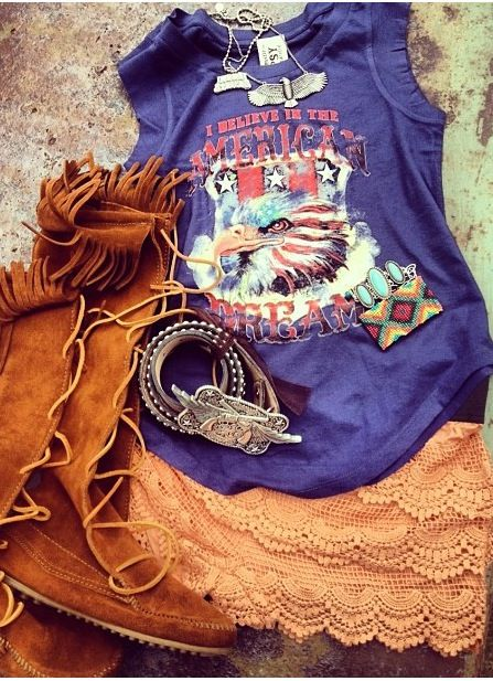 Junk Gypsy outfit, Americana at it's best!!
