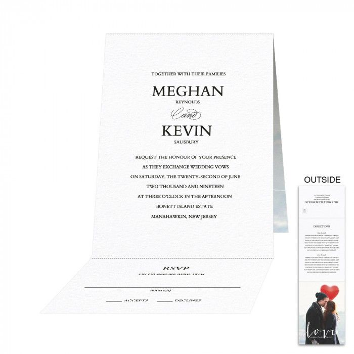 its love all in one card all in one place wedding invitation personalized - All In One Wedding Invitations