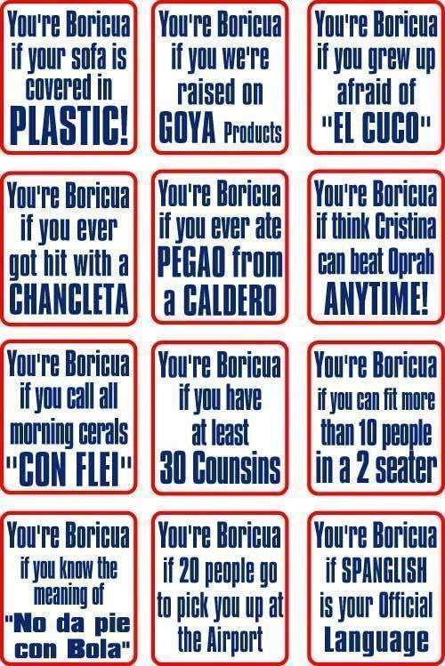 Me aplican todas menos el plastico en el sofa, lol.... #spanglishliving #boricua