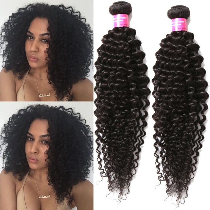 """US Hot 16""""18""""20"""" 150g Black Jerry Curly Human Hair Extension Stylish Hair Wefts #WIGISS #HairExtension"""