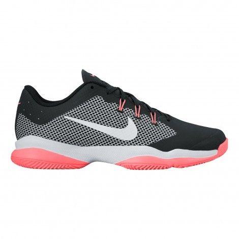 #Nike Air Zoom Ultra Clay 845047 #tennisschoenen dames black white lava glow