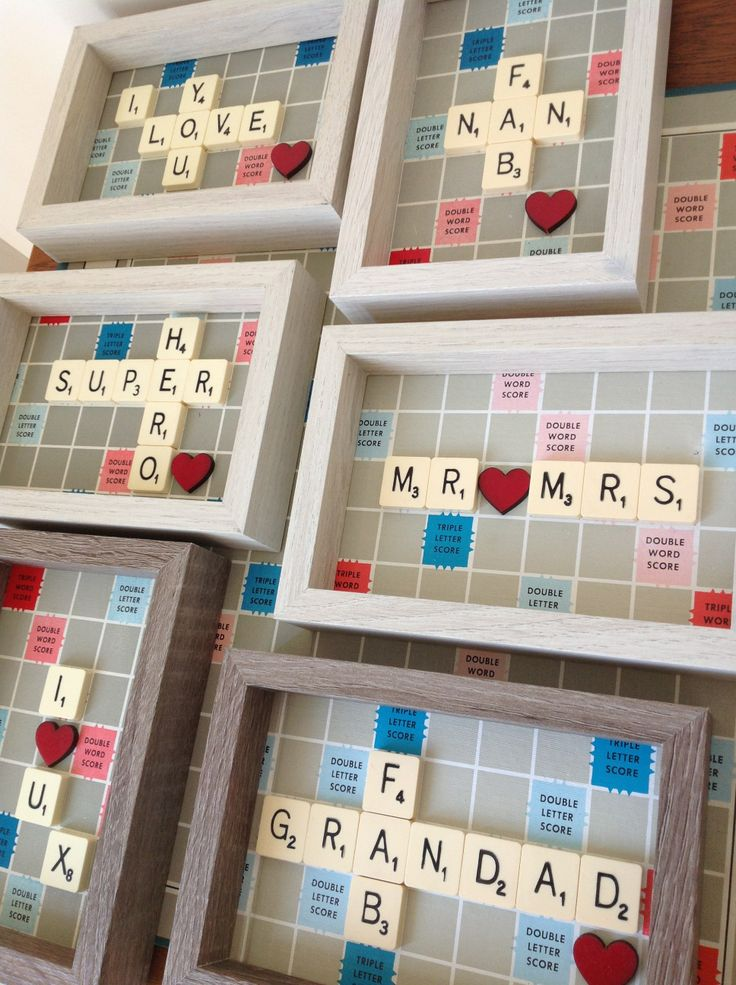 Handmade Vintage Scrabble Gifts...Unique www.facebook.com/Funkyjunk.Upcycled.UK