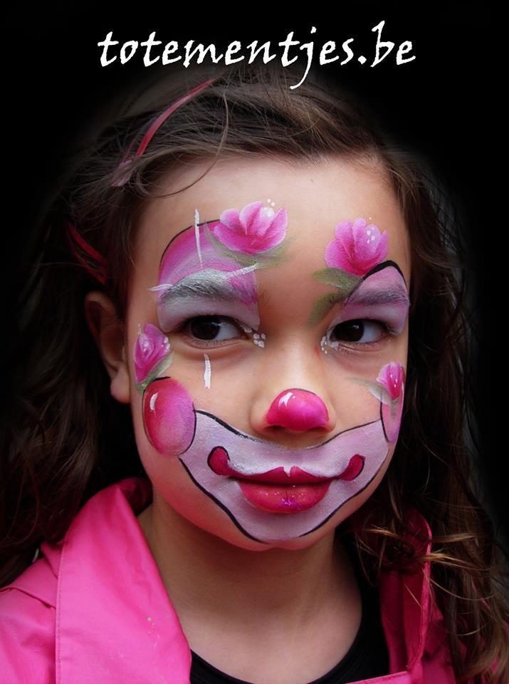 59 besten kinderschminken bilder auf pinterest bemalte gesichter gesichter und fasching schminken - Clown schminken bilder ...