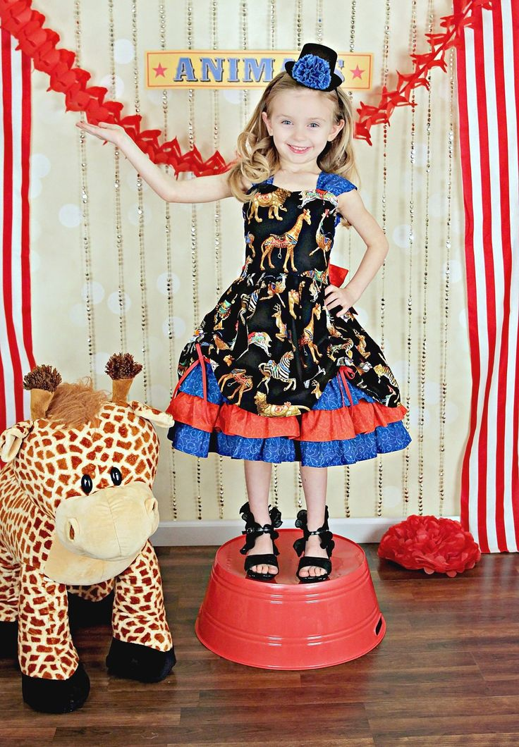 New to PinkMouseKids on Etsy: Girls Party Dress - Girls Fancy Dresses - Circus Birthday Outfit - Circus Party - Girls Dress Up Clothes - Circus Ringmaster Costume - 6m-8y (69.00 USD)