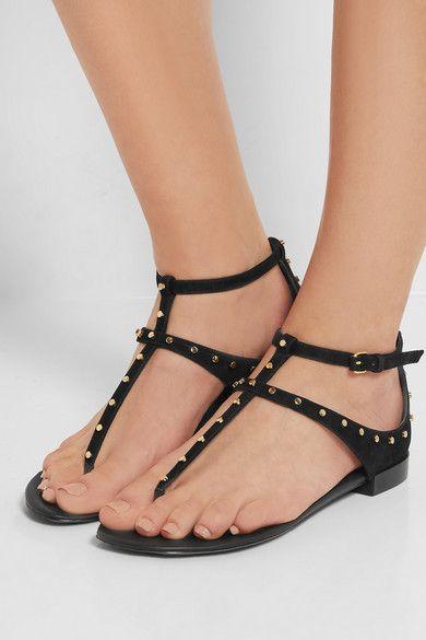 Balenciaga Milli Studded Suede Sandals