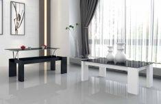 Tavoli elevabili di legno e vetro : Modello SARA