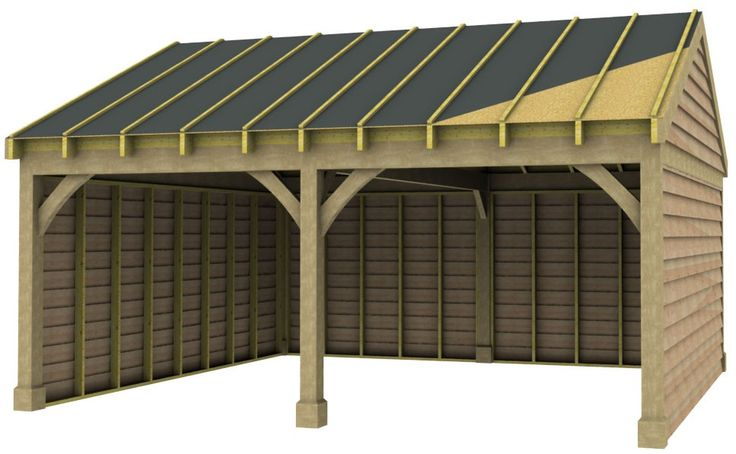 Best 2 Bay Garage With Low Pitch Gable End Roof Carport 400 x 300