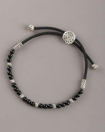 Black Onyx Bead Bracelet by John Hardy at Neiman Marcus.