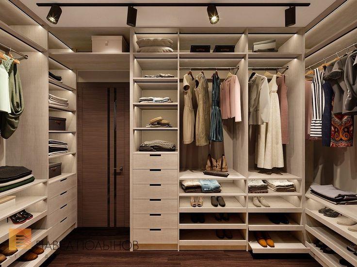 Фото дизайн гардеробной из проекта «Дизайн интерьера трехкомнатной квартиры 127 кв.м., ЖК «Парадный квартал», современный стиль»