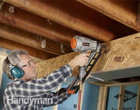 how to build a bulkhead around ductwork osb