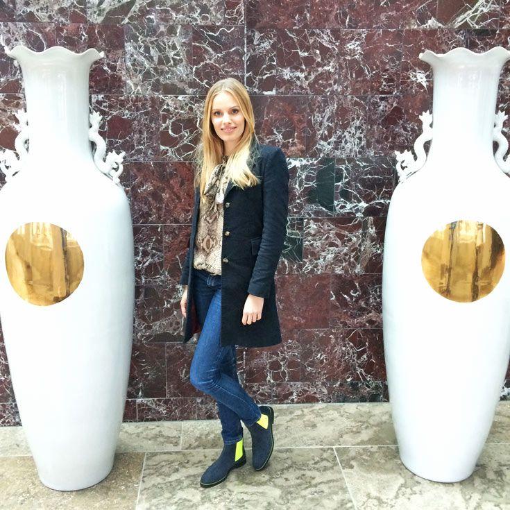 Topmodel Jana Beller is wearing Serfan #gntm #fashion
